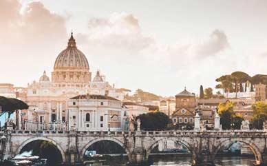 Alojarse y dormir en Roma, Italia