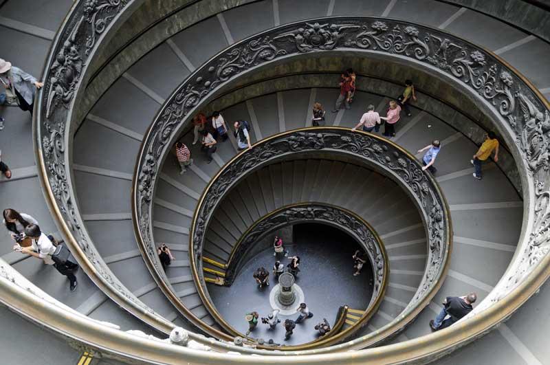 La escalera espiral de Giuseppe Momo