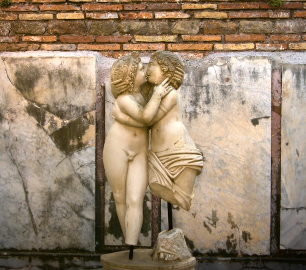La estatua Cupido y Psique