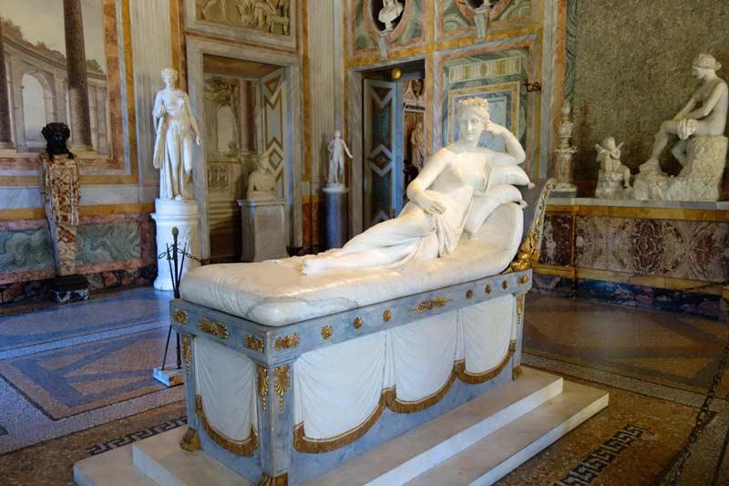 Paulina Bonaparte representando a la Venus