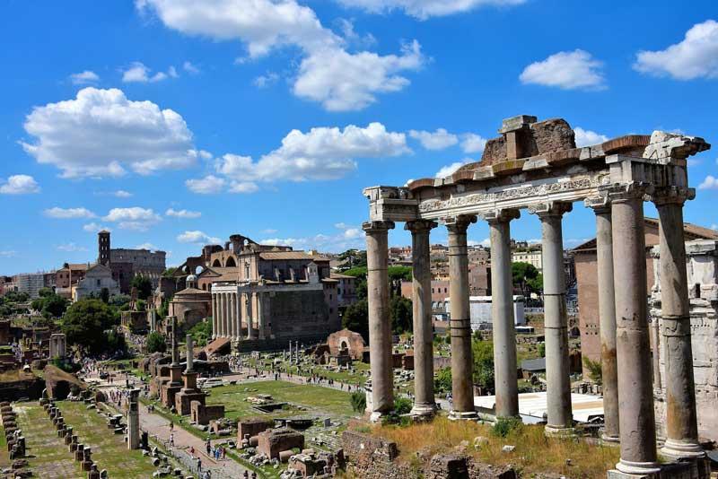 Vistas hacia el Foro Romano
